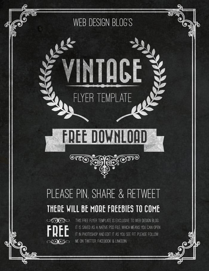 vintage_flyer_wdb 43 Plantillas de Flyer que debes descargar para tus clientes