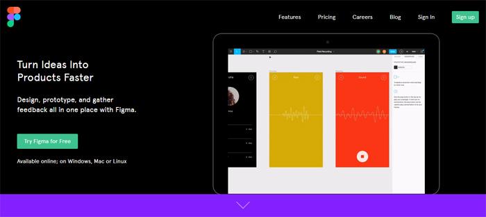 Figma_-the-Collaborative-in Neat startups en San Francisco con buenos diseños de sitios web.