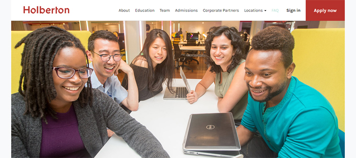 Holberton-School-of-Softwar Neat startups en San Francisco con buenos diseños de sitios web