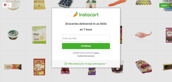 Instacart_-Groceries-Delive Neat startups en San Francisco con buenos diseños de sitios web