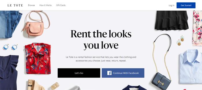 Le-Tote-Personalized-Clot Neat startups en San Francisco con buenos diseños de sitios web