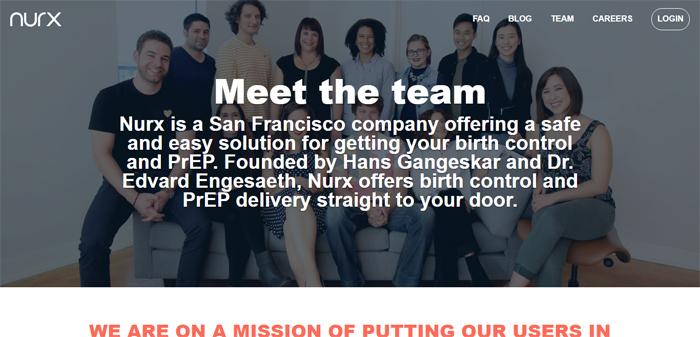 Nurx-https ___ www.nurx_ Nuevas empresas en San Francisco con buenos diseños de sitios web