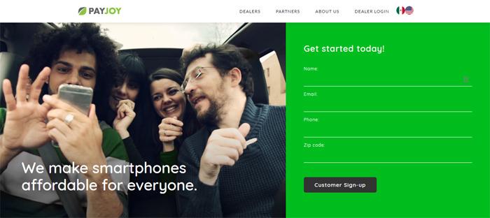 PayJoy-https ___ www.payjoy Nuevas empresas en San Francisco con buenos diseños de sitios web