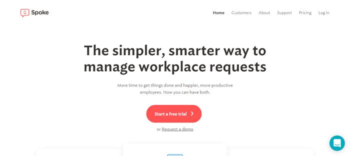 Spoke- · -Simple-AI-Help-Desk Nuevas empresas en San Francisco con buenos diseños de sitios web