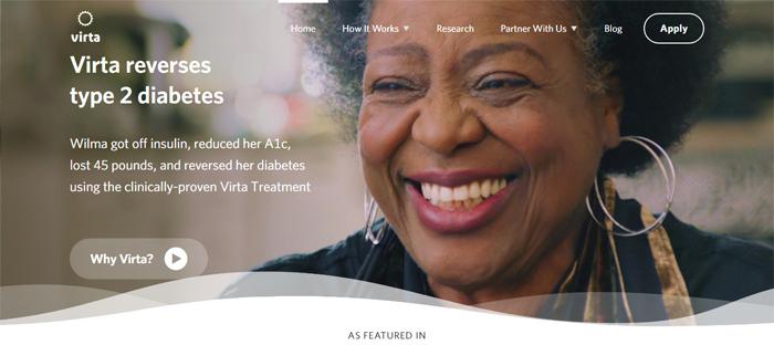 Virta-Health_-Clinically-pr Neat startups en San Francisco con buenos diseños de sitios web.