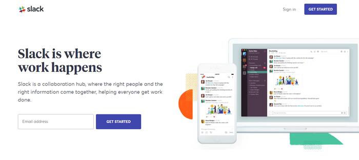 Where-work-happens-I-Slack_ Nuevas empresas en San Francisco con buenos diseños de sitios web