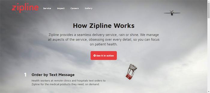 Zipline -—- Service-—- Zipline Neat startups en San Francisco con buenos diseños de sitios web