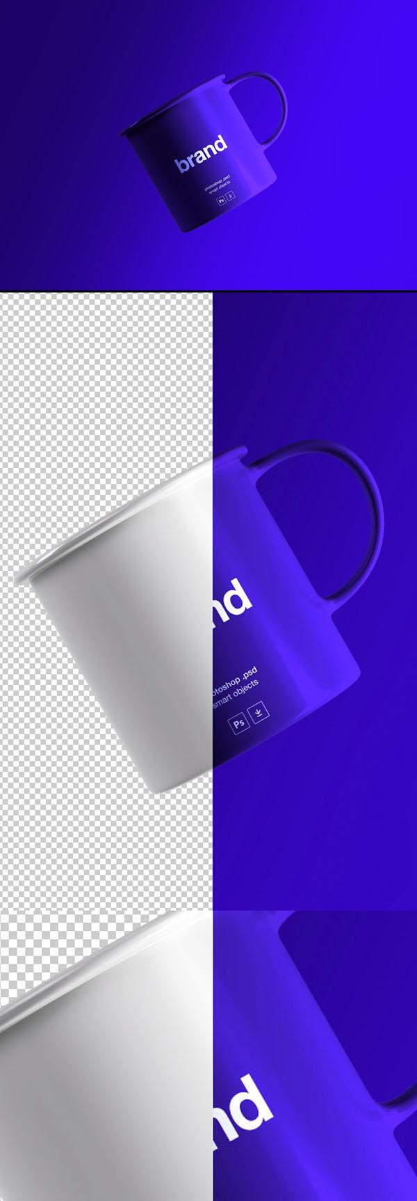 Hermosa taza de té gratis maqueta PSD