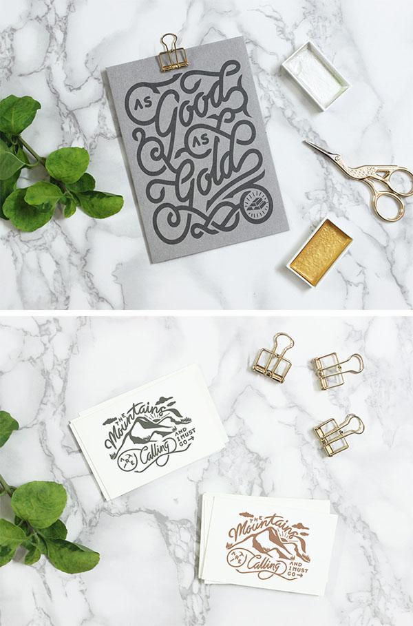 Conjunto de maquetas de letras de mármol