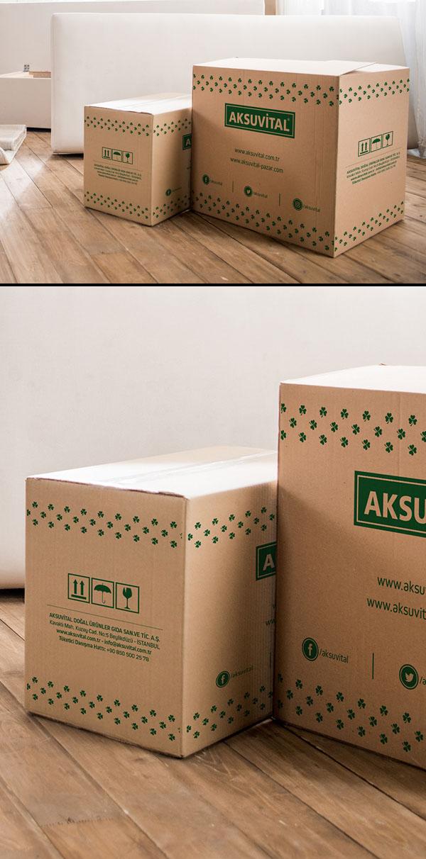 Embalaje gratis Big Box Mockup PSD