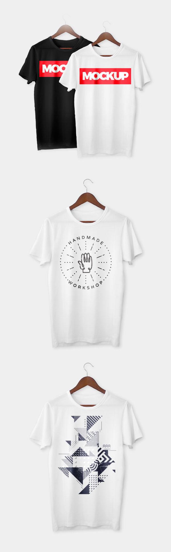 Plantillas de maquetas PSD gratis para camiseta realista