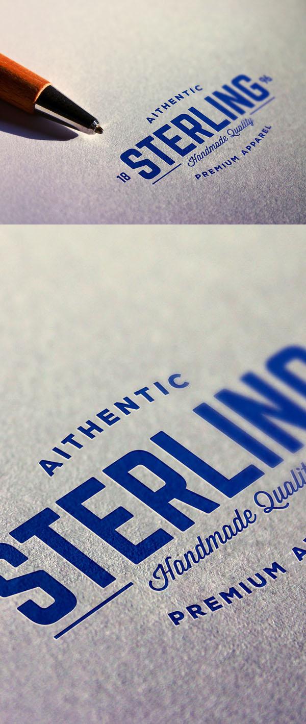 Logotipo impreso en perspectiva gratis maqueta