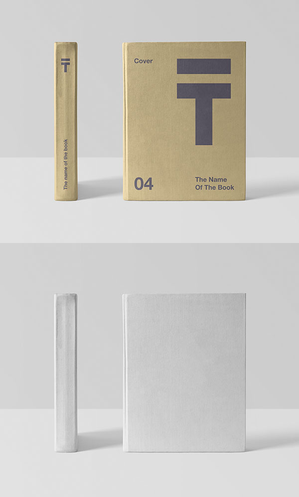 Maqueta de cubierta de libro realista gratis