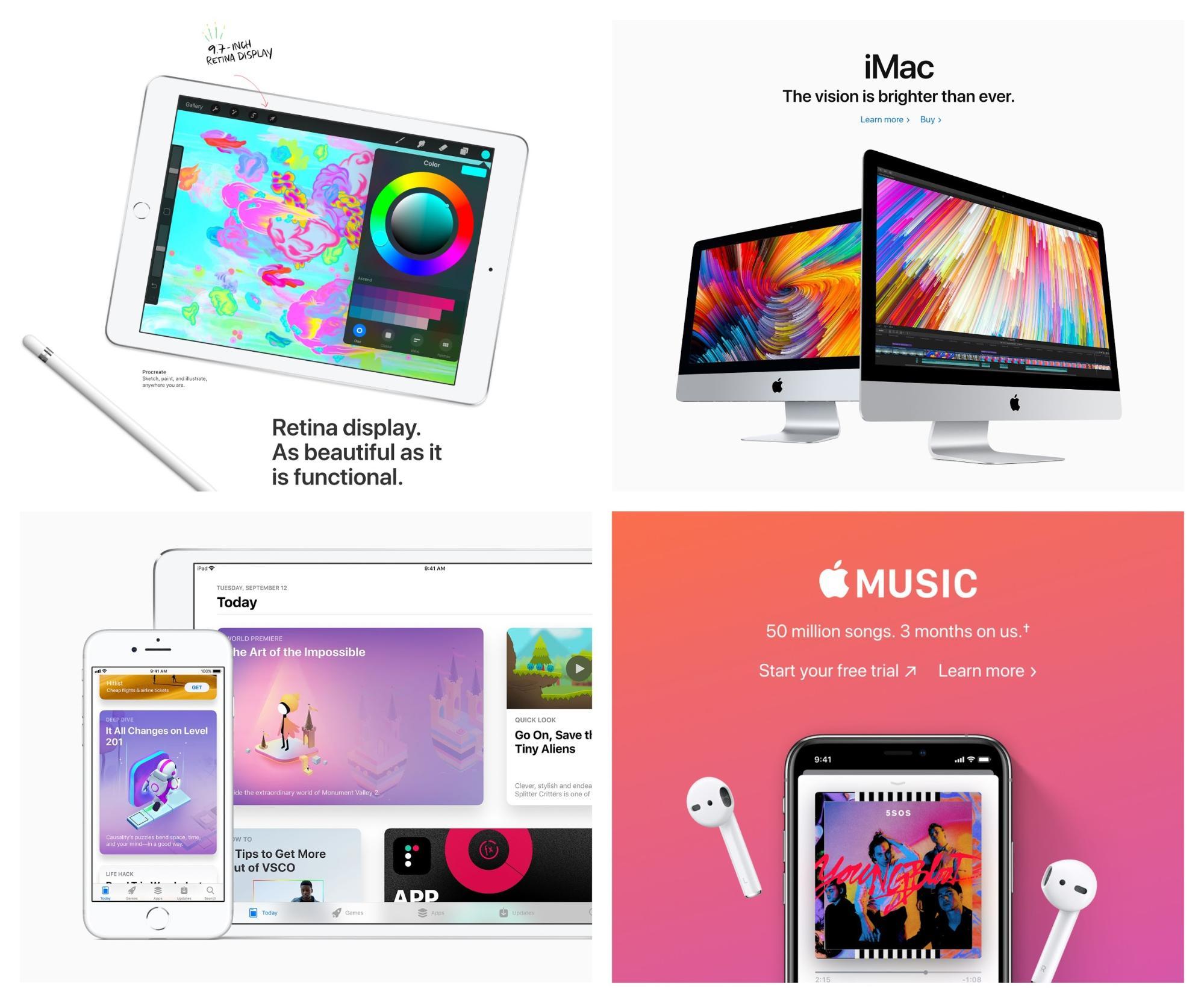Tendencias de diseño gráfico 2019 - Vivid Colors Apple