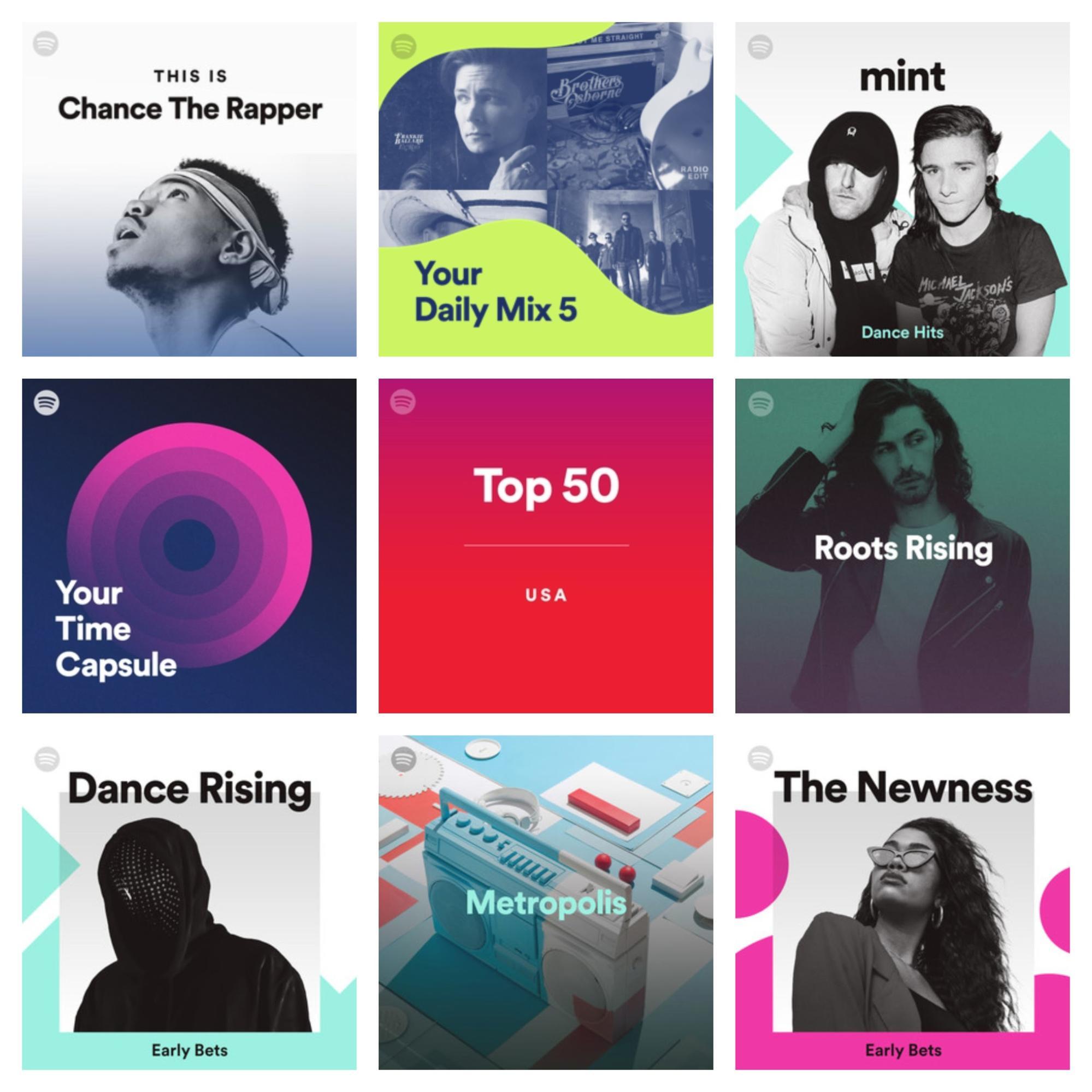 Tendencias de diseño gráfico 2019 - Vivid Colors Spotify