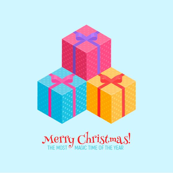 ilustración, Cómo crear un regalo de Navidad isométrico en Adobe Illustrator