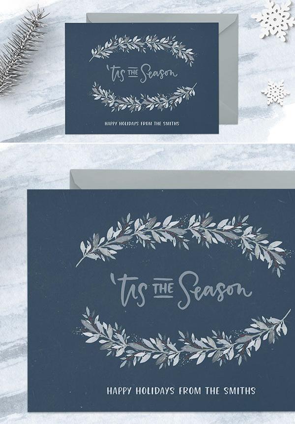Cómo crear una postal navideña de invierno