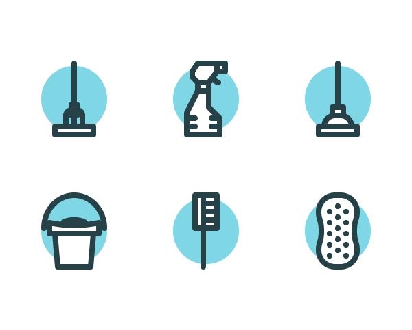 Cómo crear un conjunto de iconos de limpieza en Adobe Illustrator