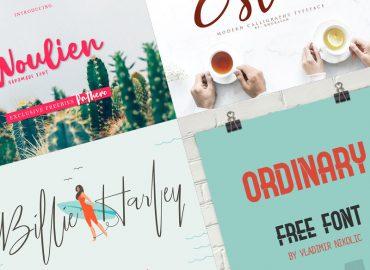 100 tipografías gratis 2019