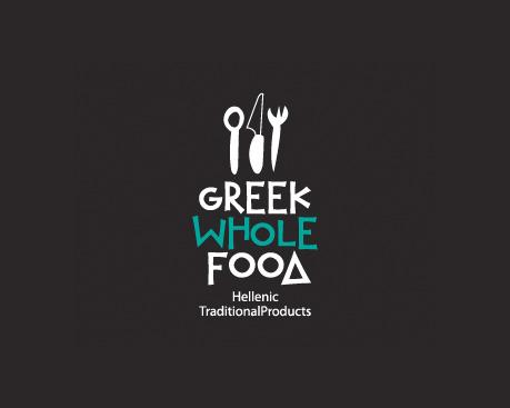 logotipos de diseñadores, Comida Griega Entera