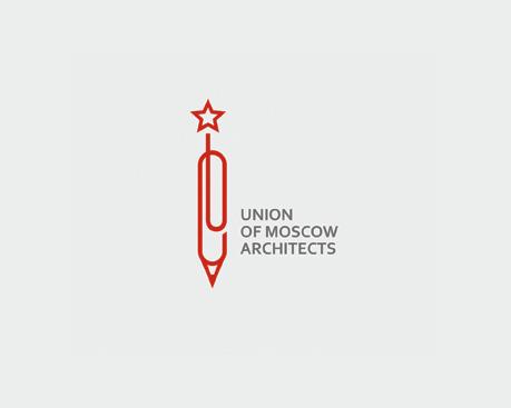 logotipos de diseñadores, Unión de arquitectos de la marca de Moscú