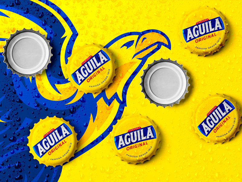 rediseño para cerveza Aguila