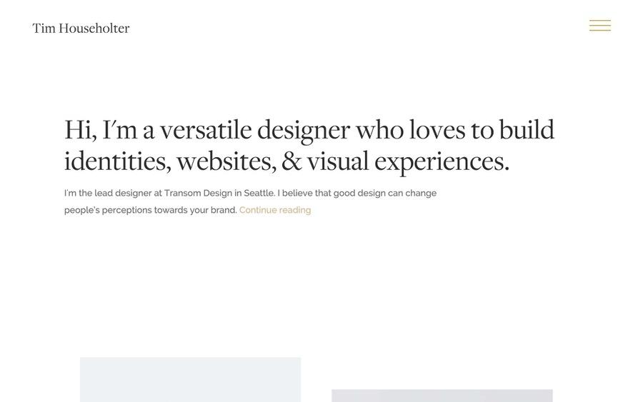 Ejemplo simple y elegante de portales web.