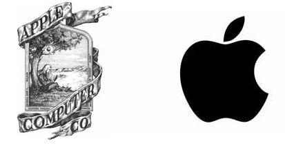 Famosos logos sin texto, minimalistas: apple