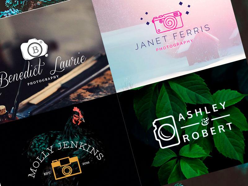 plantillas logos fotógrafos