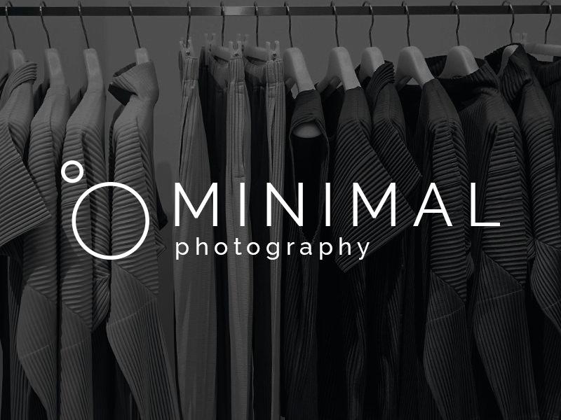 Logotipo de cámara minimalista