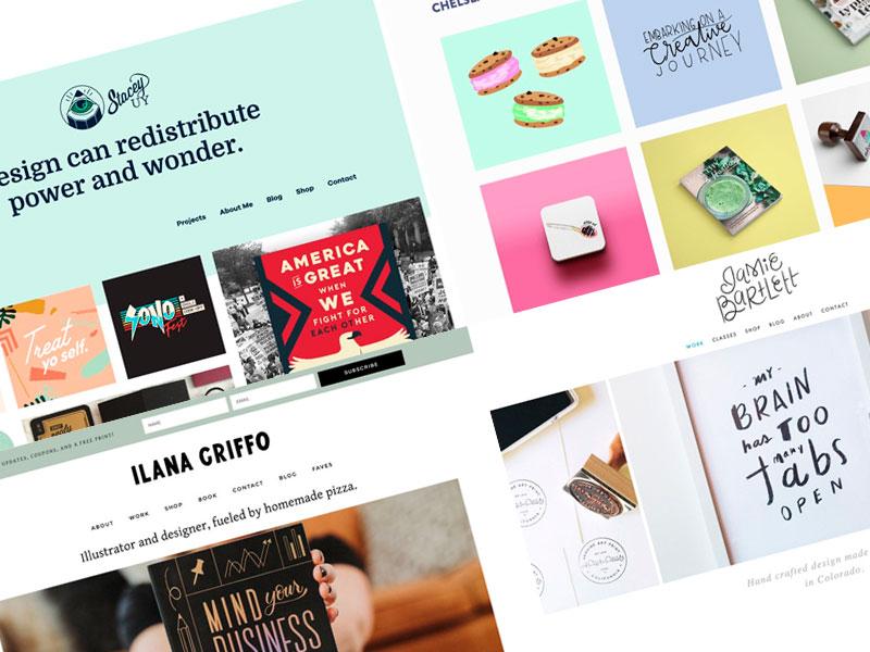 23 grandes ejemplos de portafolios de diseñadores gráficos