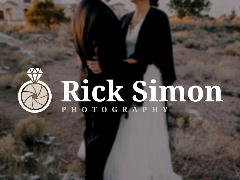 Logotipo de la boda con un anillo