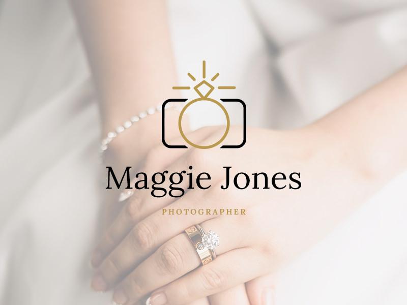 Un logo de anillo y cámara.