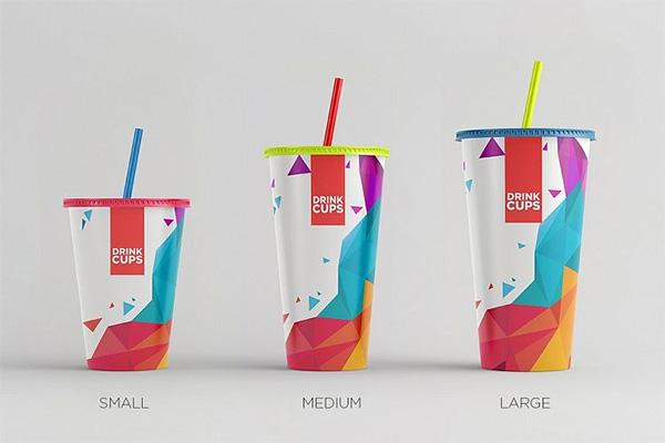 Copas de bebida maqueta