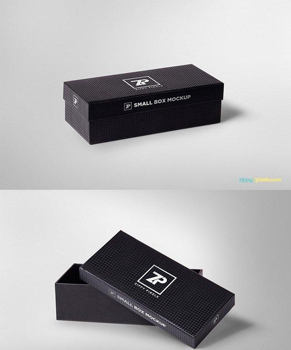 2 maquetas de cajas de regalo atractivas gratis