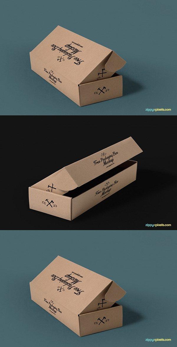 3 maquetas de empaque gratis con fondos personalizables