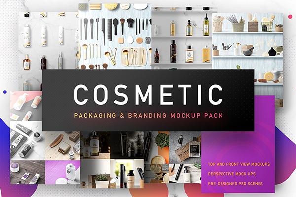 mockups de empaques, Embalaje cosmético marca maqueta
