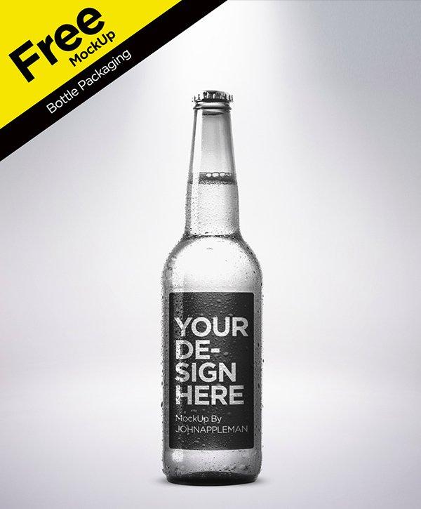 Envase de botellas Plantilla PSD gratis