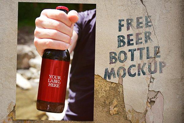 Maqueta de la botella de cerveza