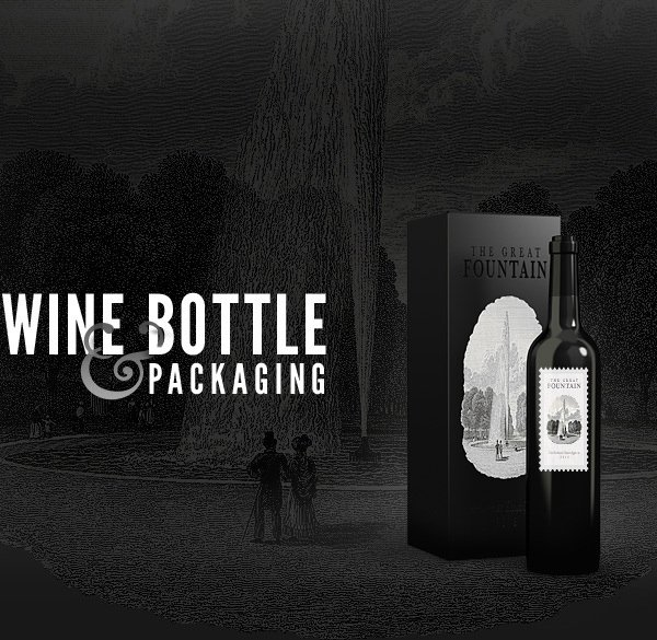 Botellas de vino - Plantilla de maqueta PSD gratis