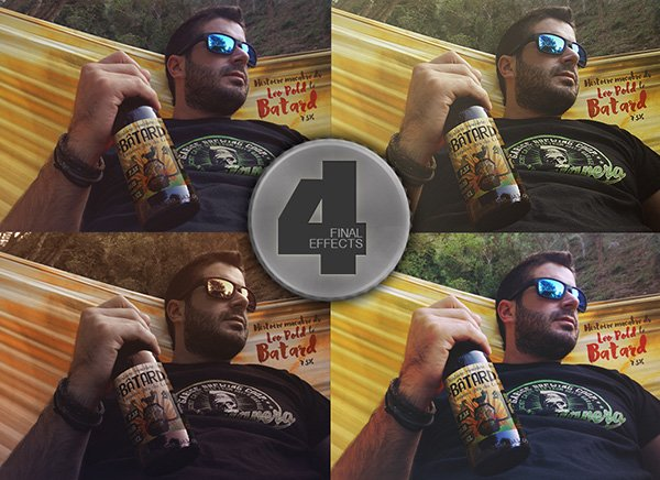 Maqueta de cerveza hamaca