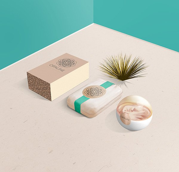 PSD Display Mockup para Cosmetic Branding