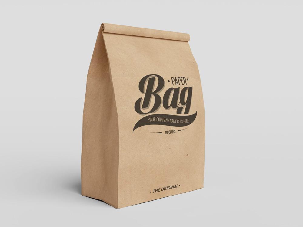 Mockups de empaques y envases 2020: bolsa