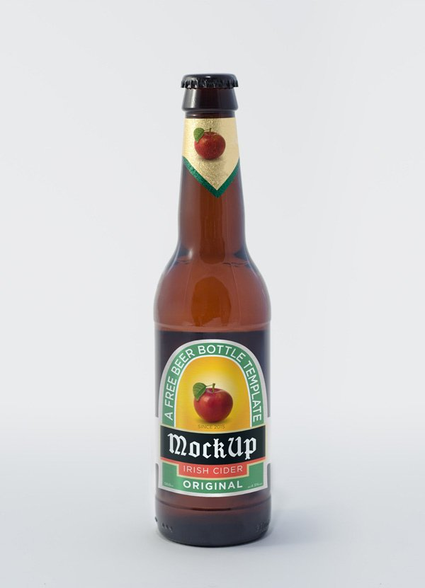 Plantilla PSD Botella De Cerveza