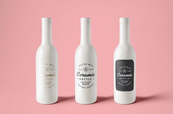 Botellas de cerámica maqueta