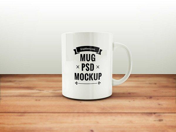 Taza de café PSD maqueta