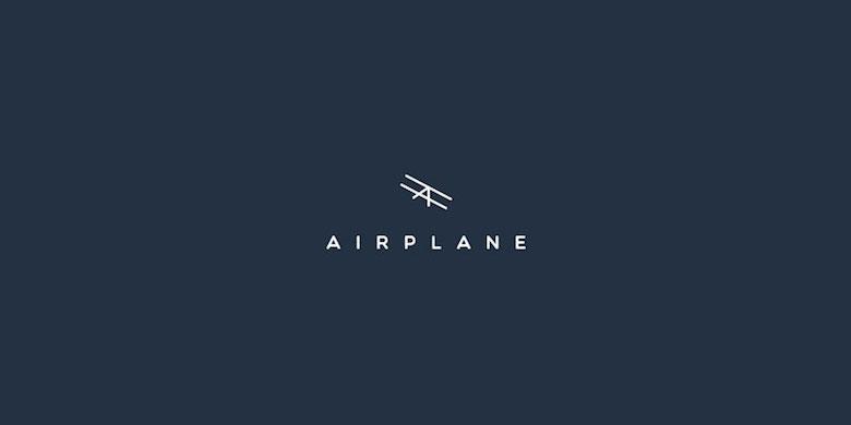 Logos mínimos creativos para la inspiración del diseño - avión