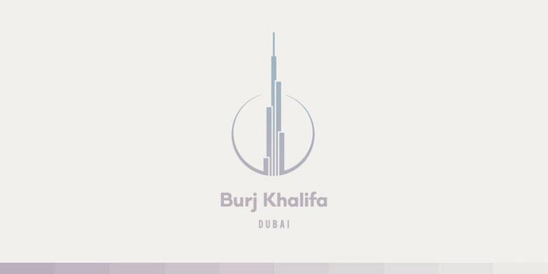 Logos minimalistas creativos para la inspiración del diseño - Burj Khalifa