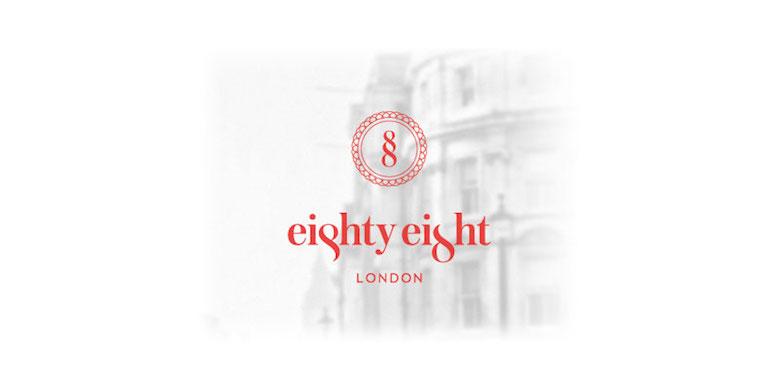Logotipos minimalistas creativos para la inspiración del diseño - Hotel ochenta y ocho