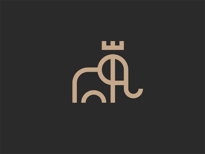 Logos minimalistas creativos para la inspiración del diseño - King Elephant